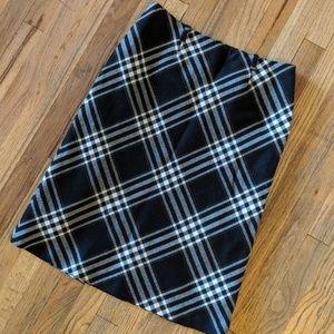 100% Wool Vintage Plaid Skirt